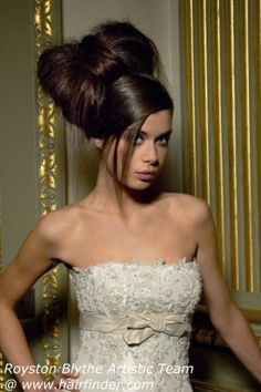 Hello Kitty wedding hairstyle... Aka my wedding up do.