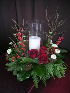 Holiday Candle Wreath by Aria Style / www.ariastyle.com / https://www.facebook.com/AriaStyle