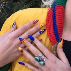 42 Sophisticated Grunge Nails Ideas Can Make You Looks More Elegant Punk Nails, Edgy Nails, Grunge Nails, Aycrlic Nails, Chic Nails, Stylish Nails, Nail Manicure, Swag Nails, Hair And Nails