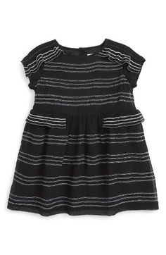 Free shipping and returns on Burberry Freja Stripe Silk Dress (Baby Girls) at Nordstrom.com. Sweet ruffles trace the cap sleeves and side waist of an embroidered silk party dress textured with delicate pleats.