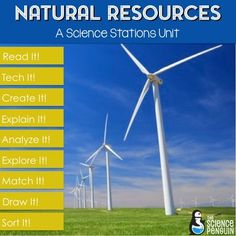 Natural Resources Stations: A Big Science Stations Unit Types Of Natural Resources, Future Classroom, Classroom Ideas, Science Stations, Science Penguin, Stem For Kids, Energy Resources, Seventh Grade, Student Reading