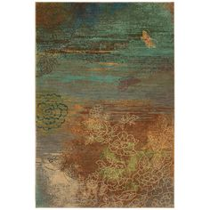 """I want to have this rug and all of its babies. Can't find it for less than $999. I'm sure it's great, but still too rich for my blood. (Karastan """"Avion"""" rug in teal)"""