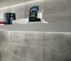 """Get the look of rough #concrete walls without the headache: """"Evolve"""" by Atlas Concorde"""