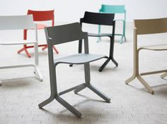 'Ru' moulded plywood chair by Shane Schneck for Hay