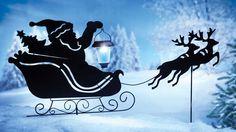 Christmas Yard Art Decoration Solar Singing Holiday Decorate Outdoor Santa Gift #Santa