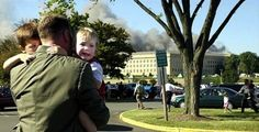 """On September 11, 2001, a hijacked plane knifed into the side of the Pentagon. We all know that. What very few people have heard is shortly afterwards, the director of a nursery in the building stood looking at the children in her charge, wondering how to move all of the babies and toddlers to safety.            A marine rushed into the room and asked if she was alright. She needed help and she told him that. He turned and ran out; the woman assumed that he had gone away for good. As she formulated a plan of action, she heard footsteps in the hall.            The man had returned—this time, though, he was not alone. At least forty other Marines followed him. They picked up the babies in their cribs, the toddlers, the helpless infants. They carried them through the halls and to a nearby park, where they arranged the cribs in a circle and set the toddlers in the middle. Then they stood guard outside, never allowing the children to be unattended.    When I first saw this picture, I thought that the man carrying the children was their father. Now I realize that he was not related to them by blood, but by nationality. He is an American. They are American children. He is not their father, he is their protector. He's a United States Marine."""