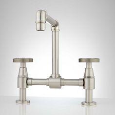 Edison Bridge Bathroom Faucet with Pop-Up Drain