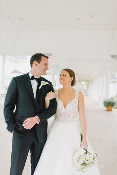The Plantation Ponte Vedra Wedding | Ponte Vedra Presbyterian Church   #pvpc #lacegown