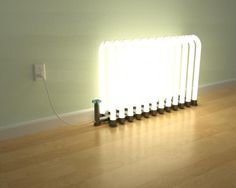 Unique Lamp Shaped Like Radiators – Radiant Floor Lamp - The Great Inspiration for Your Building Design - Home, Building, Furniture and Interior Design Ideas Neon Lighting, Lighting Design, Furniture Design, Modern Furniture, Radiant Floor, I Love Lamp, Luminaire Design, Unique Lamps, Modern Lamps