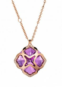 Chopard Collier Sautoir IMPERIALE Cocktail Or rose 18 carats, améthystes et diamants