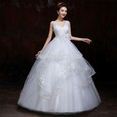 High Quality 2015 Sheer new spring bosom pregnant women dress Wedding Dress V-Neck Wedding Bridal Dresses Gowns Wedding Dresses