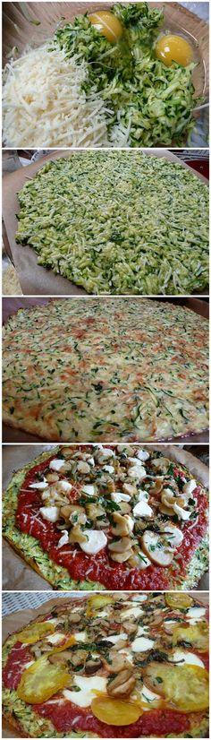 Zucchini Crust Pizza - Muchtaste
