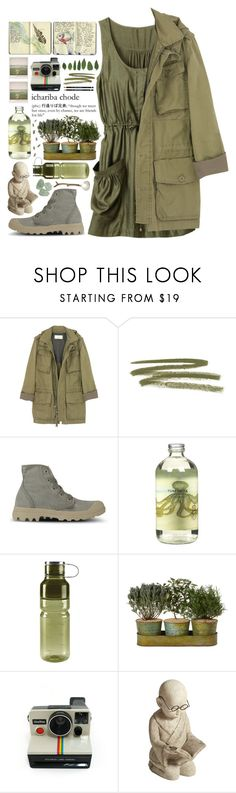 """""""Get out for adventure"""" by dayliant ❤ liked on Polyvore featuring H&M, J.Crew, Polaroid, NARS Cosmetics, Palladium, Moleskine, TokyoMilk, OXO, Pier 1 Imports and Boots"""