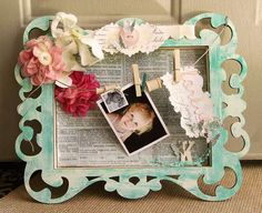 Pink Paislee shadow box