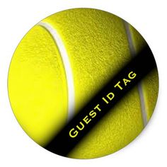 Tennis Guest ID Tags Stickers 40% off