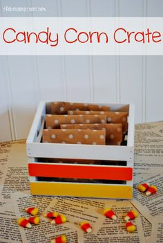 Candy Corn Crate from {www.thebensonstreet.com} #candycorn #halloween #diy