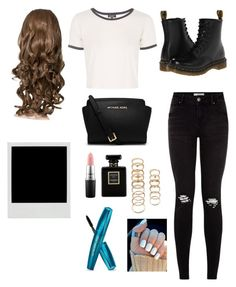 """""""ME ♡"""" by fashionashell ❤ liked on Polyvore featuring Topshop, Dr. Martens, MICHAEL Michael Kors, Forever 21, Chanel and MAC Cosmetics"""