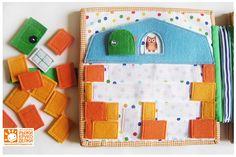 Рыжие Рукоделки/ orange crafts: Книжка для мальчика. Love this build a house page!