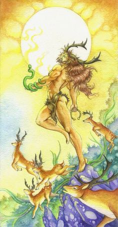 The Greenman Cernunnos/Herne the Hunter.The Horned God. Fantasy Creatures, Mythical Creatures, Herne The Hunter, Male Witch, Celtic Pride, Celtic Mythology, Pan Mythology, Pagan Art, Eclectic Witch