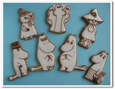 He is Moomin and others of a favorite character currently loved all over the world. Moomin House, Tove Jansson, Cookie Designs, Biscotti, Christmas Cookies, Conversation, Gingerbread, Foods, Baking