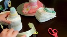 How to make a diaper cake - Baby Bottle
