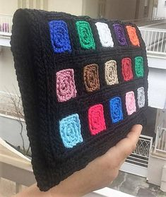 Women Crochet Wallet Macrame Polypropylene Cord Black Crochet Wallet, Crochet Clutch, Crochet Handbags, Crochet Purses, Crochet Bags, Canvas Purse, Crochet Borders, Knitting Accessories, Plastic Canvas