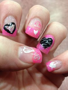 Gel Nails. Valentine Nails by Shannon
