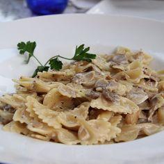 Wild Mushrooms Pasta With Truffle Cream Sauce