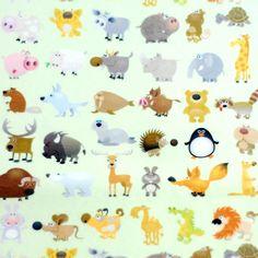 Desenli keçe, sevimli hayvanlar