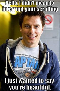 Captain Jack Harkness is wearing a Captain America shirt. Your argument is invalid.