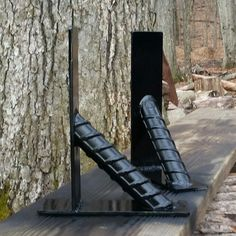 Repurposed rebar shelve brackets
