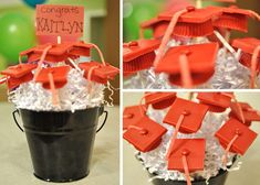 Great graduation center pieces for parties!