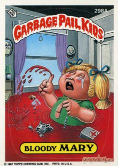 The Garbage Pail Kids Sticker Gallery for Original Series 8 features hi res images of every sticker in the series! Garbage Pail Kids Cards, Kids Series, Kids Board, Kids Stickers, Patch Kids, 90s Kids, Classic Toys, Alter, Halloween