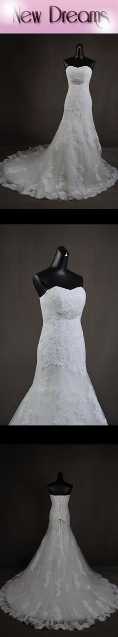 New style wedding dress organza and lace - Nuovo modello di abito da sposa in organza e pizzo www.yournewdreams.com