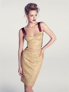 Frida Gustavsson for H&M Summer 2012 Collection,   love the hair & makeup as well!!