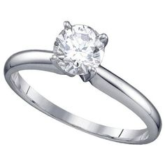wedding sets ring with shape of flower | solitaire engagement ring at an incredible value price. This ring ...