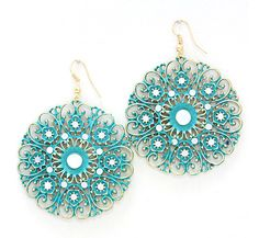 Kimmie Earrings in Teal Patina on Emma Stine Limited