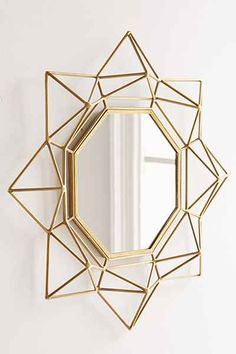 "4040 Locust Geo Wire Mirror - Urban Outfitters - Diameter: 20""  $59 free ship"