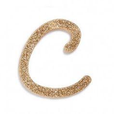 Letra Glitter C