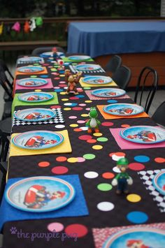 Mario Kart with a touch of tassels, gumballs and color! Birthday Party Ideas | Photo 1 of 51 | Catch My Party