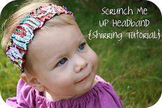 Cute scrunchy headband
