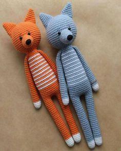 Amigurumi Uzun Bacaklı Kurt ve Fox Tarifi
