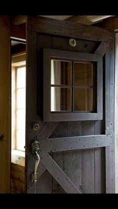 Barn style front door in house. I would like it a bit more reinforced… Sponsored Sponsored Barn style front door in house. I would like it a bit more reinforced. Barn Style Doors, Barn Doors, Rustic Front Doors, Rustic Entry, Passion Deco, My New Room, Windows And Doors, Garage Windows, Garage Doors