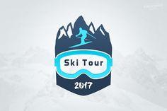 Ski Tour Winter Sports Logo by Krukowski Graphics on @creativemarket