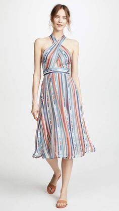 ASTR the Label Gemma Dress. This party-ready ASTR the Label dress has a retro silhouette and colors that remind us of summer sunsets, perfect for leaving new friends dazzled (and a bit jealous).