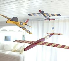 Hanging Clipper Planes | Pottery Barn Kids