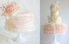 austin-wedding-cakes-on-wedding-cakes-with-fondant-frills-amp-garden-flowers-15.jpg (600×383)