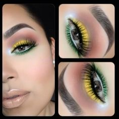 I don't usually use bright colored eye make up, but these colors go perfectly together. I might just try this one day.