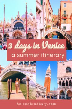 It's hard to pick the best time to visit Venice, Italy because it's always so busy, this itinerary for 3 days in Venice helps you make the most of your trip to Venice in summer, with plenty of things to see and do and avoid the worst of the crowds | 3 days in Venice: a Venice itinerary for peak season to avoid the crowds | Helena Bradbury travel blog | Venice trip itinerary | three days in Venice | Venice Italy itinerary | 3 day Venice itinerary | Venice travel itinerary | Venice travel… Venice Guide, Venice Travel Guide, Italy Travel Tips, Rome Travel, Italy Destinations, Visit Venice, Things To Do In Italy, Three Days, Venice Italy