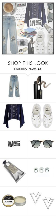 """""""Design School"""" by lolakelley ❤ liked on Polyvore featuring R13, INIKA, Chicwish, Dr. Martens, Ray-Ban, L'Occitane, Detroit Grooming Co. and Nadri"""